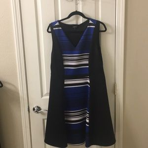 Black, white and black torrid plus size dress